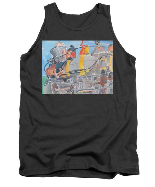Train Engine Tank Top by Rodger Ellingson