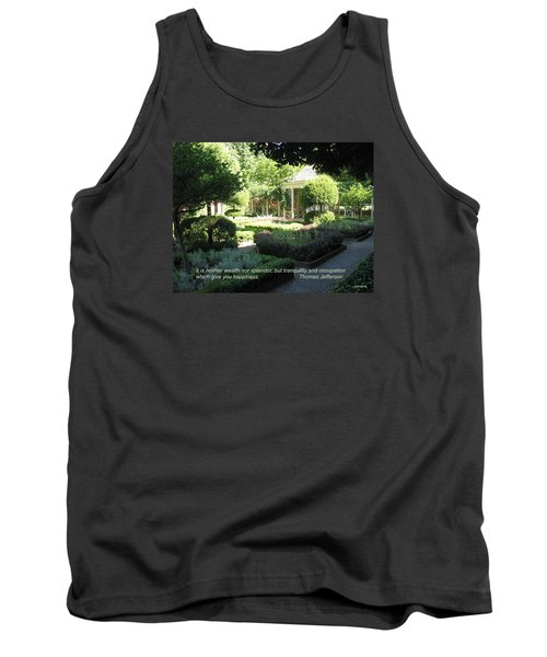 Tranquility And Occupation Tank Top by Deborah Dendler