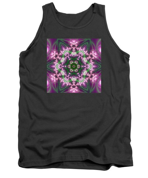 Tank Top featuring the digital art Transition Flower 6 Beats 4 by Robert Thalmeier