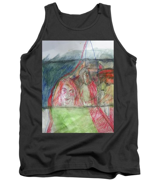 Travelers On The Train Tank Top
