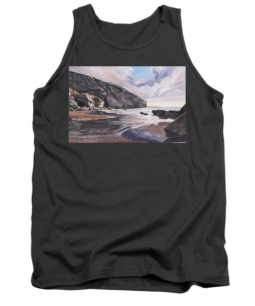 Tank Top featuring the painting Trebarwith Strand by Lawrence Dyer