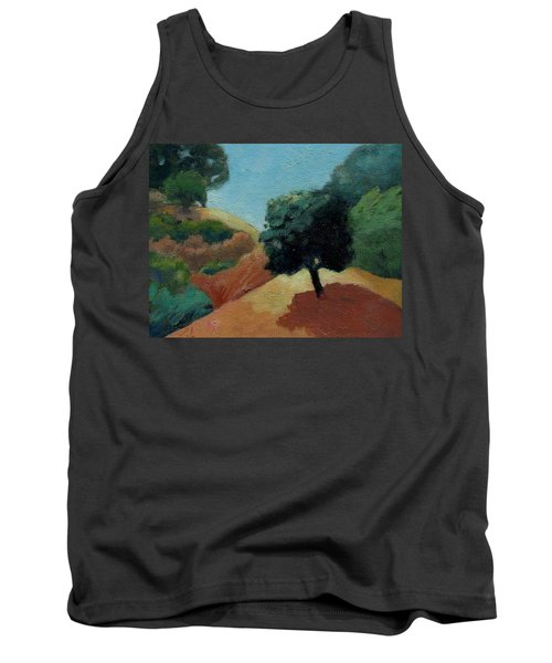 Tank Top featuring the painting Tree Alone by Gary Coleman