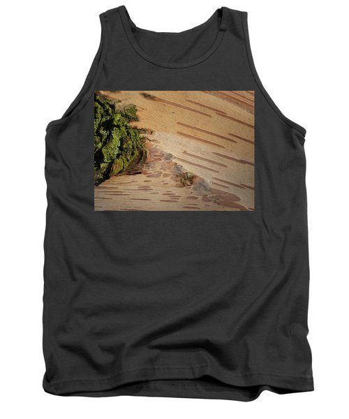 Tree Bark With Lichen Tank Top by Margaret Brooks