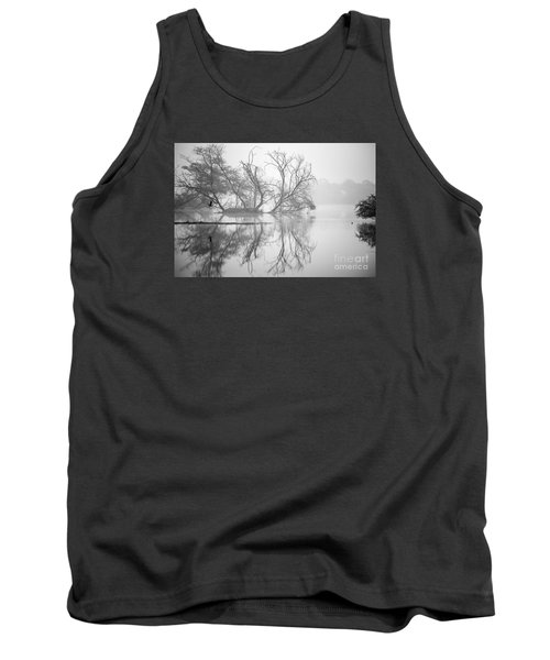 Tree In A Lake Tank Top by Pravine Chester