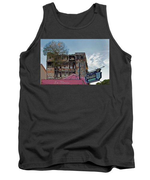 Tank Top featuring the photograph Tree In Building Over La Floridita Havana Cuba by Charles Harden