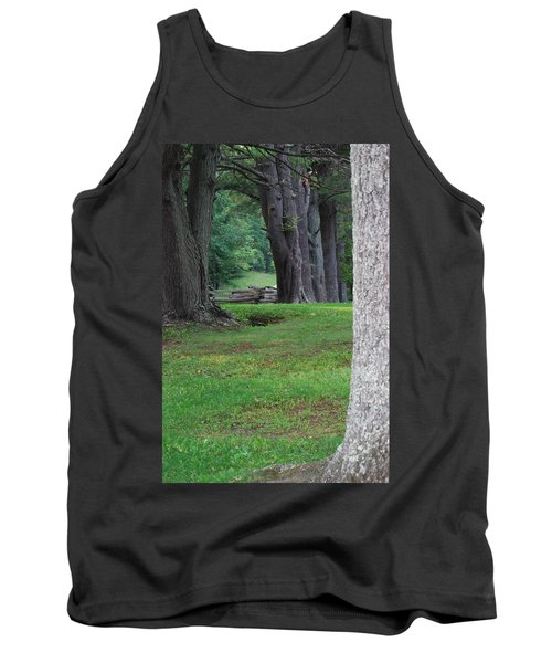 Tank Top featuring the photograph Tree Line by Eric Liller