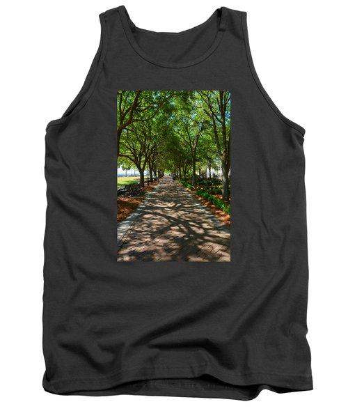 Tree Lined Path Tank Top by Debra Martz