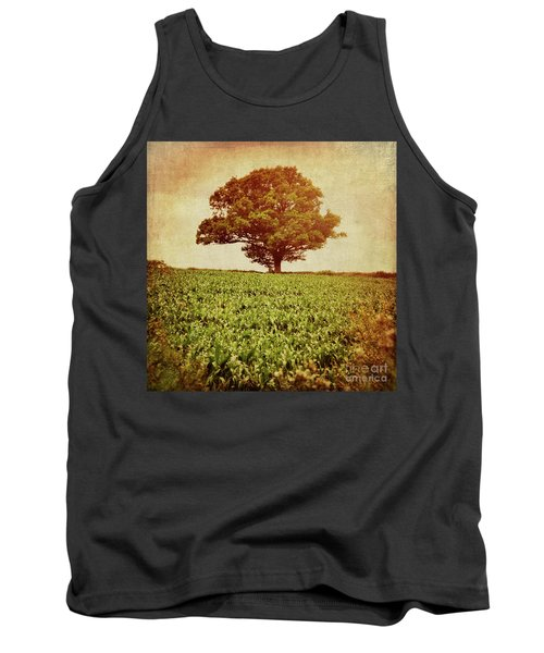 Tank Top featuring the photograph Tree On Edge Of Field by Lyn Randle