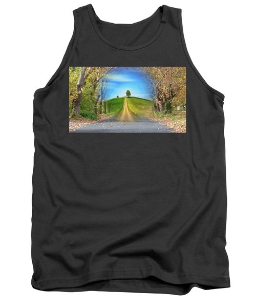 Tree On The Hill Montage Tank Top