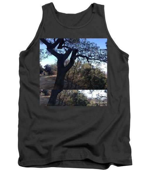 Tree Silhouette Collage Tank Top