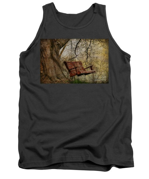 Tree Swing By The Lake Tank Top