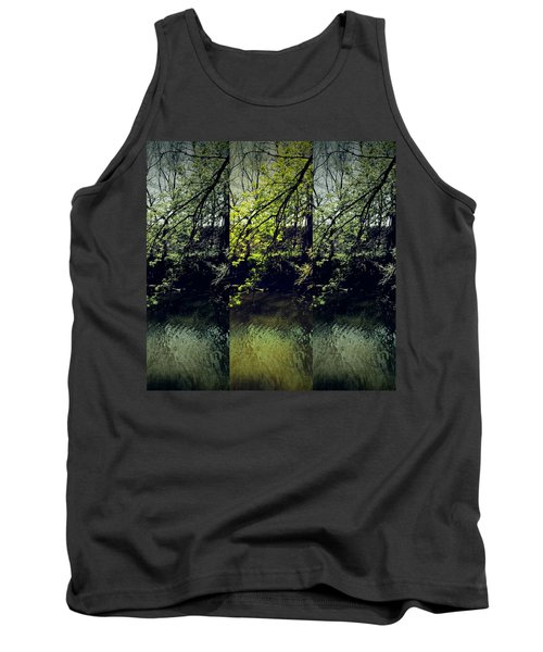 Tree Triptych Tank Top by Michele Carter