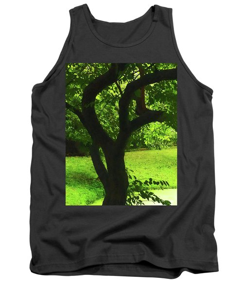 Tree Trunk Green Tank Top