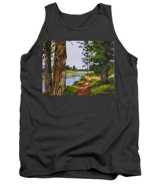 Trees Along The River Tank Top