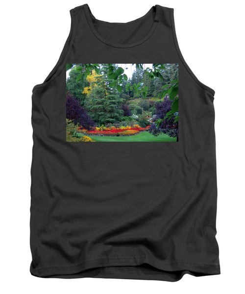 Trees And Flowers Tank Top by Betty Buller Whitehead