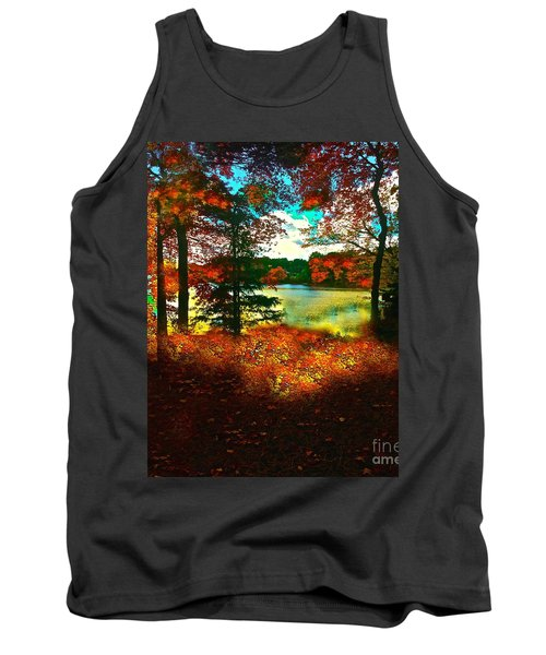 Trees And Shadows In New England Tank Top by Saundra Myles