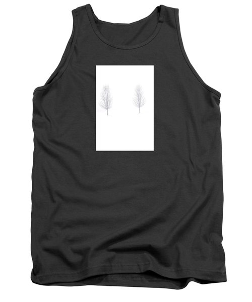 Trees And Snow Tank Top by Daniel Thompson