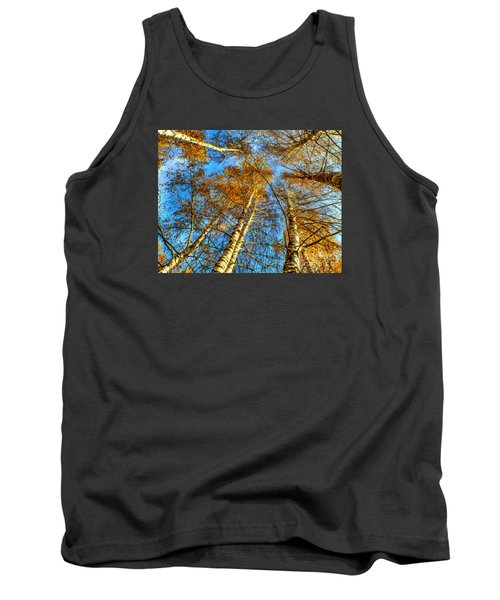Trees Grow To The Sky Paint Tank Top by Odon Czintos