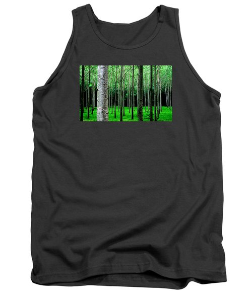 Trees In Rows Tank Top