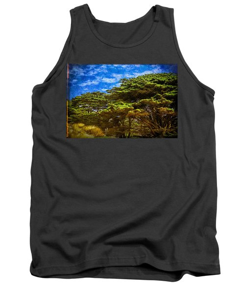 Trees On An Oregon Beach Tank Top by John Brink