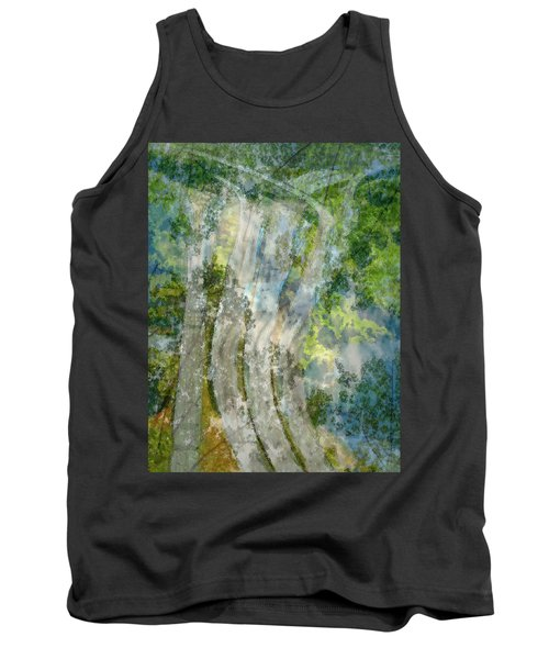 Trees Over Highway Tank Top