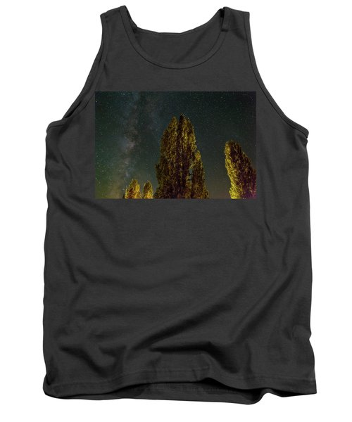 Trees Under The Milky Way On A Starry Night Tank Top