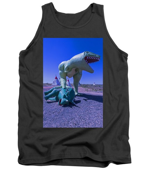 Trex And Triceratops  Tank Top