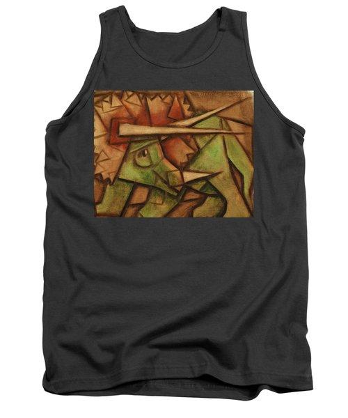 Tommervik Triceratops Dinosaur Art Print Tank Top