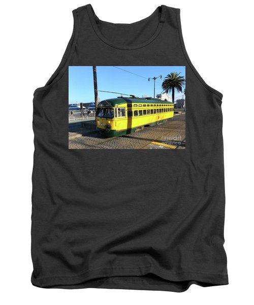 Tank Top featuring the photograph Trolley Number 1071 by Steven Spak