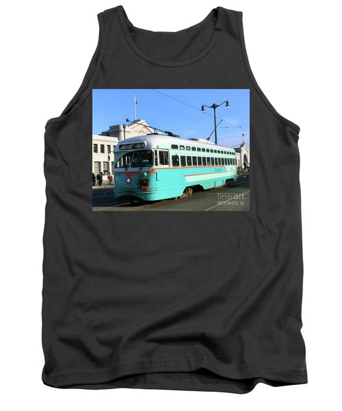 Tank Top featuring the photograph Trolley Number 1076 by Steven Spak