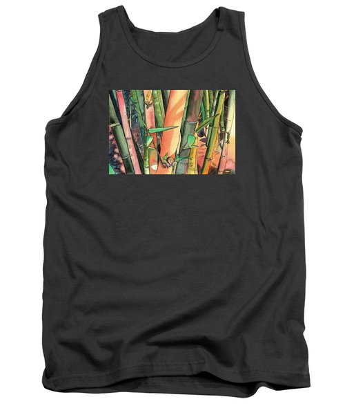 Tropical Bamboo Tank Top by Marionette Taboniar
