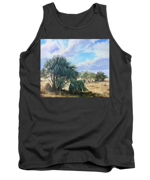Tropical Orange Grove Tank Top