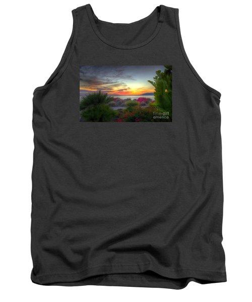 Tropical Paradise Sunset Tank Top