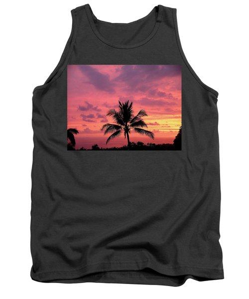 Tropical Sunset Tank Top by Karen Nicholson
