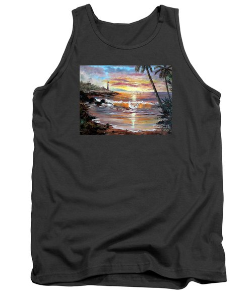 Tropical Sunset Tank Top by Lee Piper