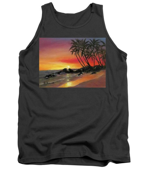 Tropical Sunset Tank Top by Roseann Gilmore