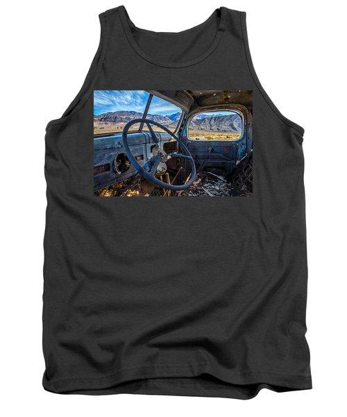 Truck Desert View Tank Top by Peter Tellone