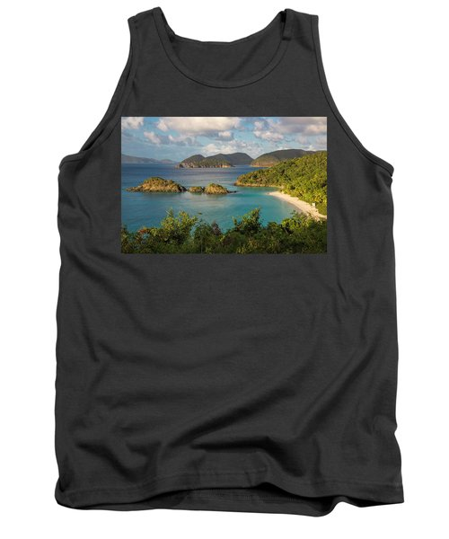 Tank Top featuring the photograph Trunk Bay Morning by Adam Romanowicz