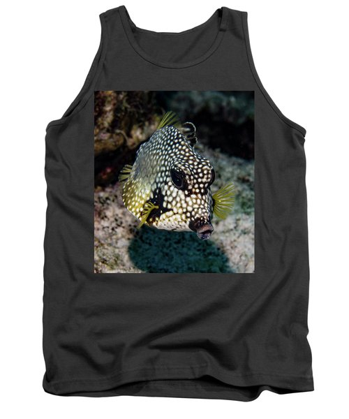 Tank Top featuring the photograph Trunkfish Portrait by Jean Noren