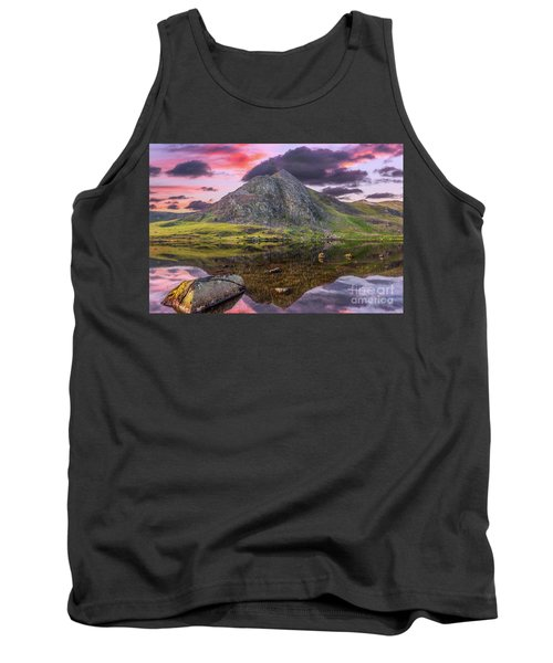 Tank Top featuring the photograph Tryfan Mountain Sunset by Adrian Evans