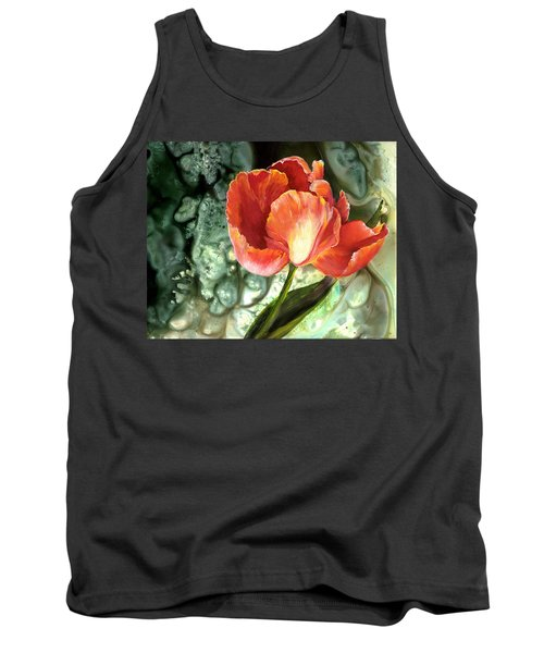 Tank Top featuring the painting Tulip Dance by Sherry Shipley