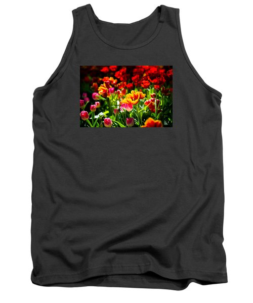 Tank Top featuring the photograph Tulip Flower Beauty by Alexander Senin