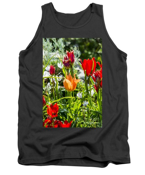 Tank Top featuring the photograph Tulip - The Orange One by Arik Baltinester