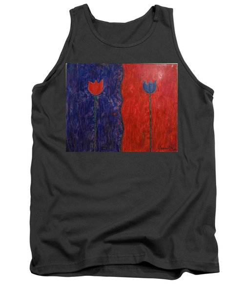 Tank Top featuring the painting Tulip by Walter Casaravilla
