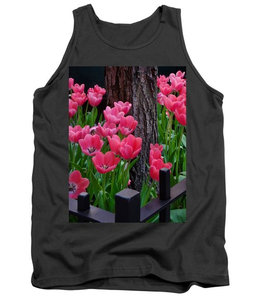 Tulips And Tree Tank Top by Mike Nellums