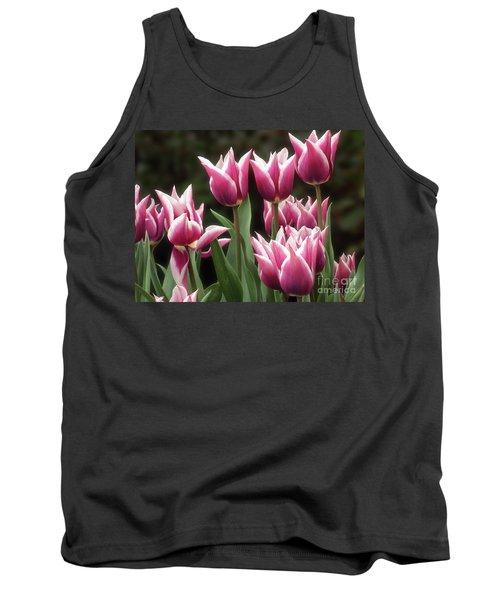 Tulips Bed  Tank Top by Kim Tran