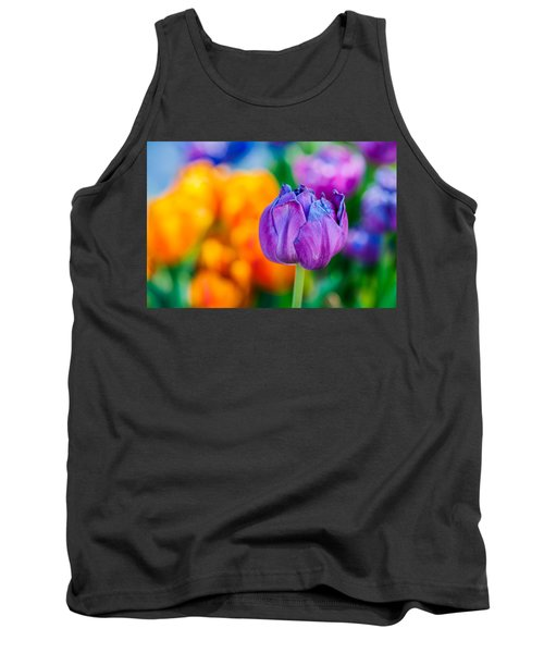 Tank Top featuring the photograph Tulips Enchanting 46 by Alexander Senin