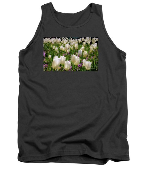 Tulips In White Tank Top