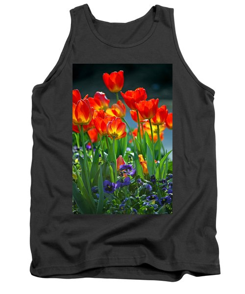 Tulips Tank Top by Robert Meanor
