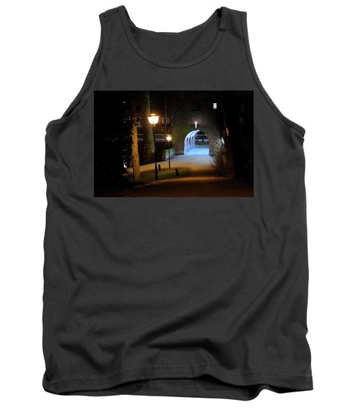 Tunnel At Ledig Erf In Utrecht At Night 294 Tank Top